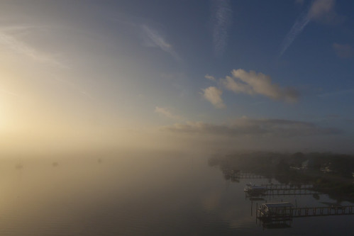 weather fog sunrise river indian intracoastalwaterway newsmyrnabeachfl