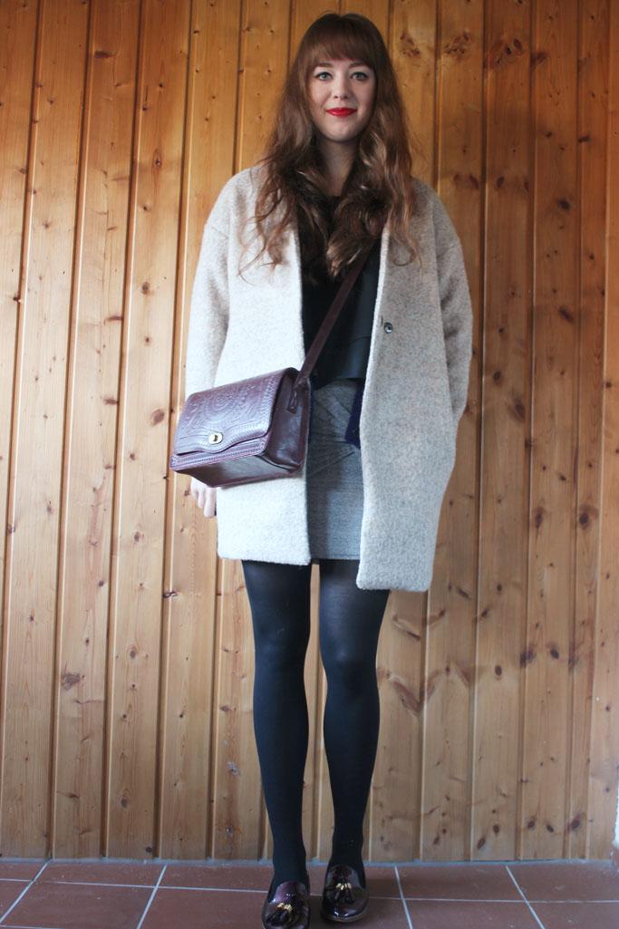 Grey Cashmere Oversize coat Oasap - coat zara trend winter 2014