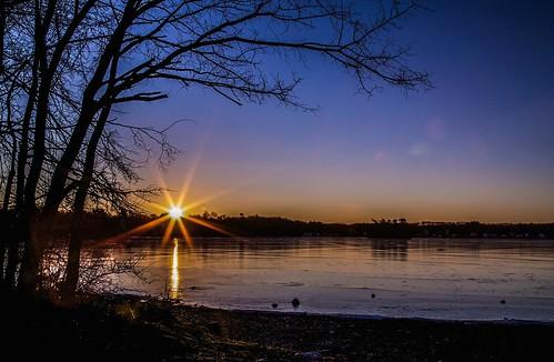 winter sunlight nature sunrise ma star frozen