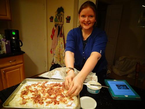 baking tarte d'alsace