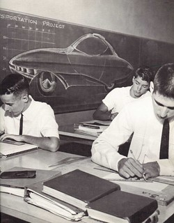 St. Bernard High School drafting class 1964