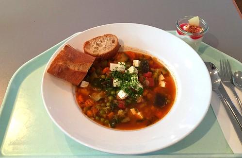 Greek vegetable stew with feta & baguette / Griechischer Gemüsetopf mit Schafskäse & Baguette