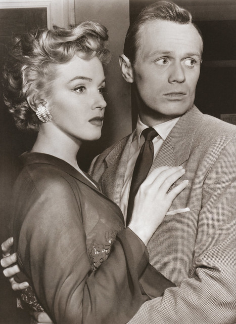 Marilyn Monroe and Richard Widmark in