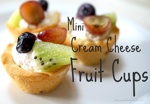 Mini Cream Cheese Fruit Cups