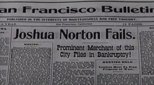 Emperor Norton newspaper on Death Valley Days