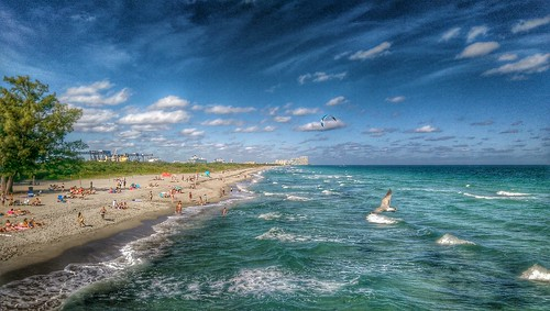 ocean sea beach coast seaside florida shore fortlauderdale atlanticocean beachfront hdr ftlauderdale dania htc