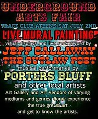 Y'all come check out my spoken word to music visual display at Trace Bar in Athens on July 2 w/ special guest Porters Bluff and many more at the Underground Arts Fest!