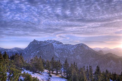 november austria 2014 eisenerz leopoldsteinersee hochblaser