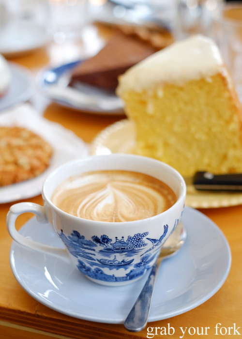 Flat white coffee at Beatrix, North Melbourne