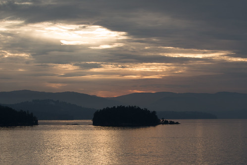 View from the ferry from Vancouver Island