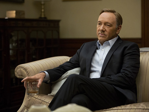"Kevin Spacey in the TV serie ""House of Cards"""