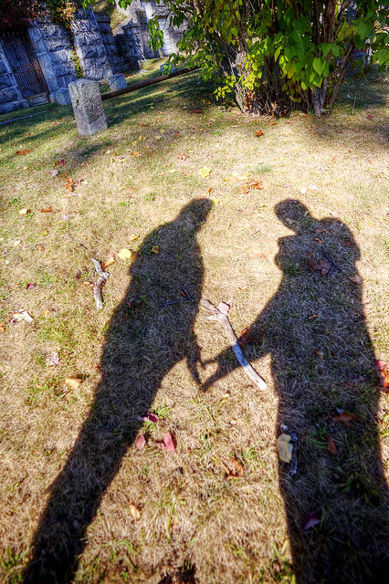 """""""Love Shadow"""" Sleepy Hollow Cemetery."""