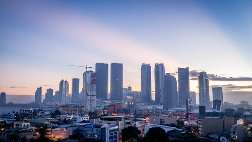 morning sunrise cityscape manila pasig