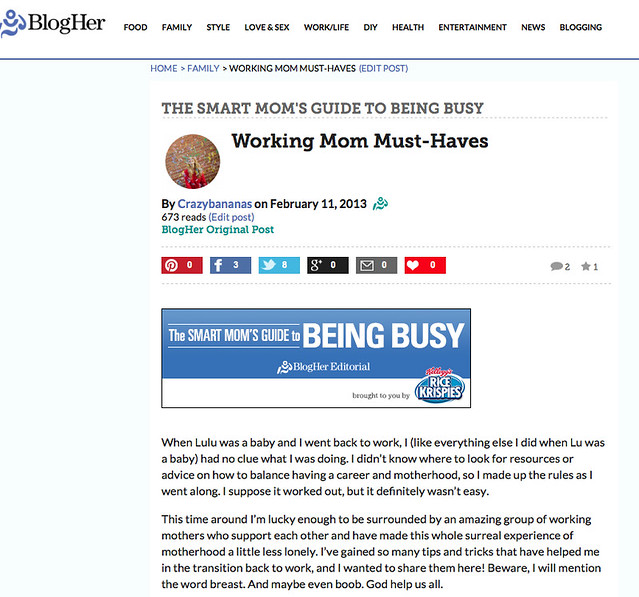 BlogHer Working Mom Musthaves