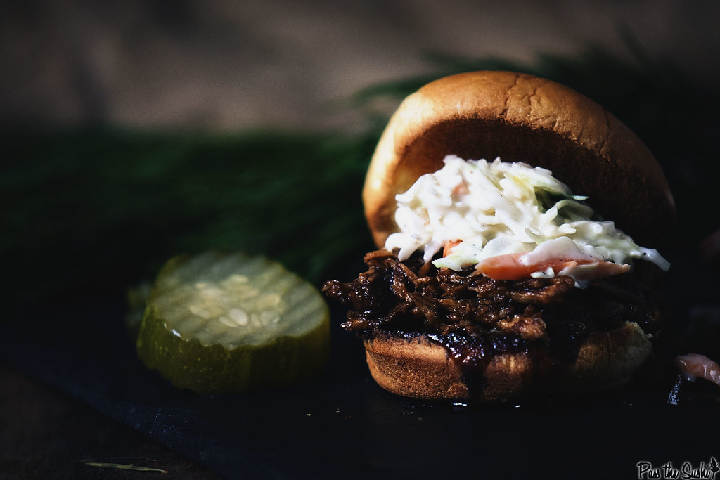 Slow Cooker Balsamic and Honey Pulled Pork Sliders | GirlCarnivore.com