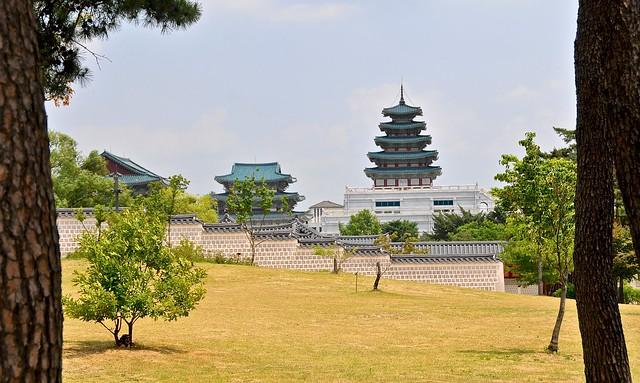 Gyeongbokgung Palace looking towards National Folk Museum