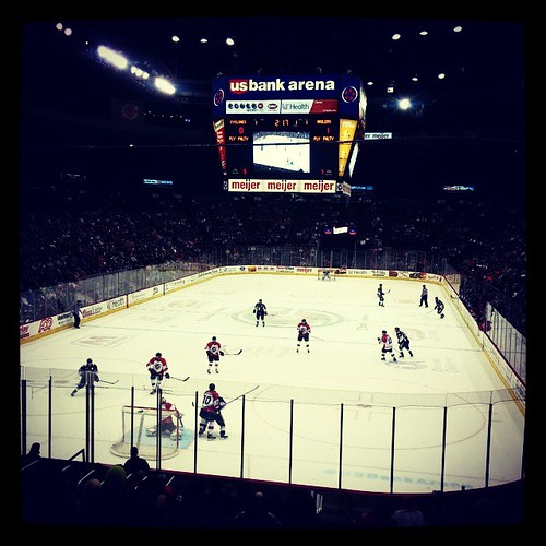 We went to our first @CincyCyclones game of the season last night...