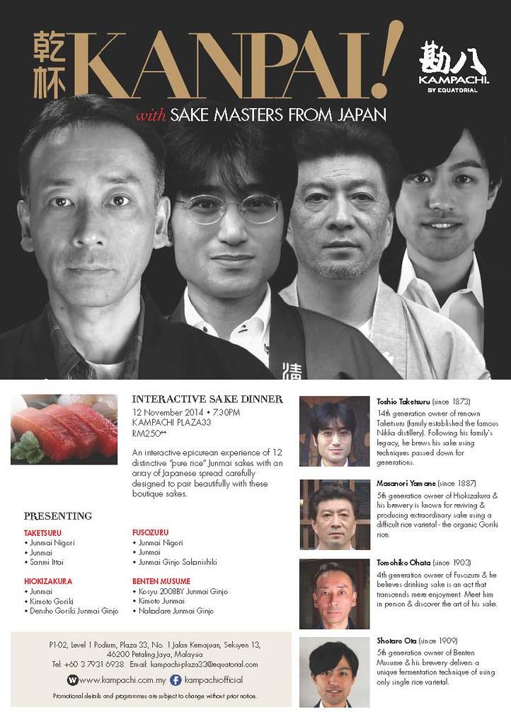 Kanpai with Sake Masters at Kampachi Plaza33