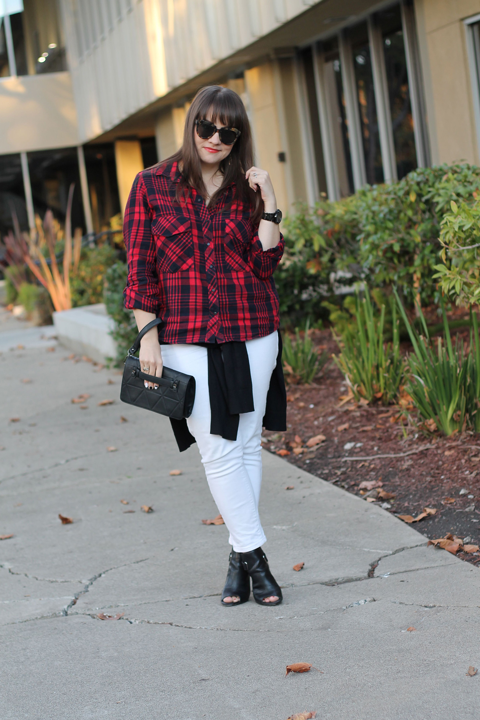 Plaid & White Denim