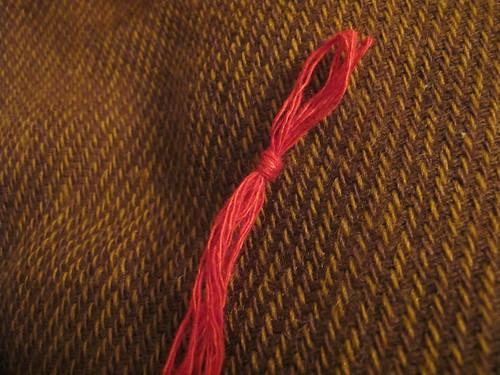 Medieval textile purse - 13