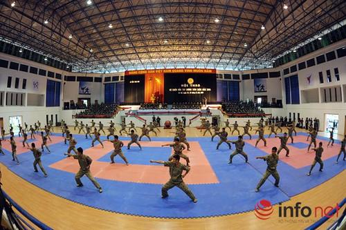 Ấn tượng với những màn trình diễn võ thuật chiến đấu trong quân đội