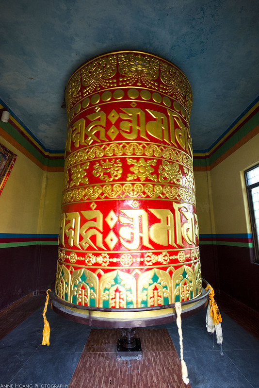 prayer wheel in Tibetan monastery