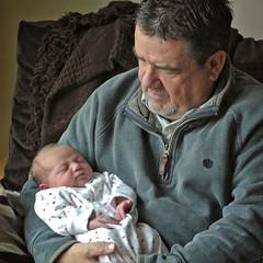Granddad's very first cuddle