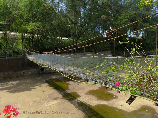 Hanging bridge inside the Botanical & Zoological Gardens. Maria Cristina Falls in Iligan City, Philippines
