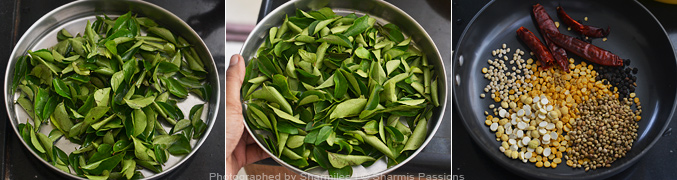 How to make curry leaves rice - Step1