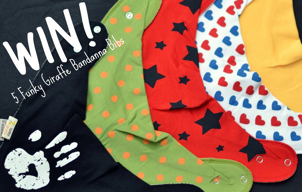 Funky Giraffe bandanna bibs GIVEAWAY on Diddle Diddle Dumpling.