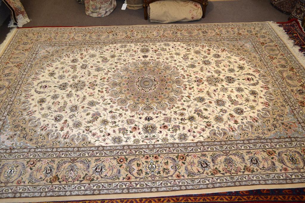 Pair Isfahan Esfahan Kaf Abrisham 7x10 persian Fine Area Rug (18)