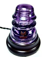Purple Whitall Tatum Glass Insulator Lamp