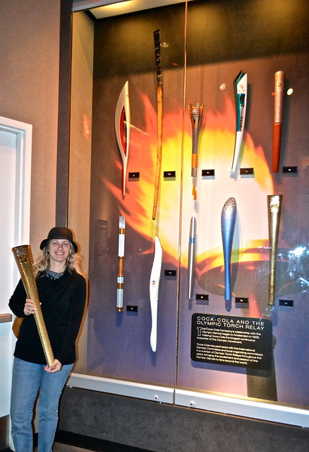 Coca Cola World - olympic torches