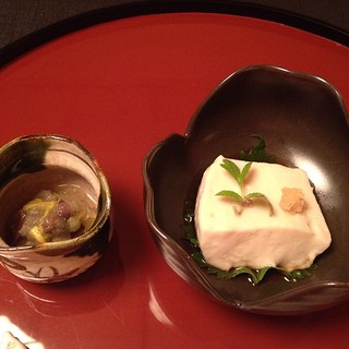 Daigo - sesame tofu with radish and mushrooms