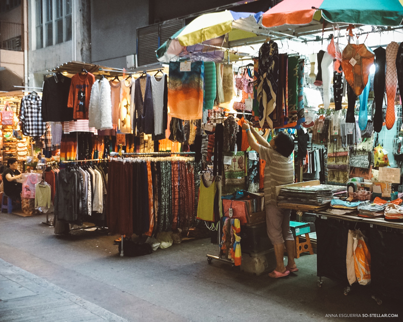 Pop-up Market in an alley at Central, Hong Kong