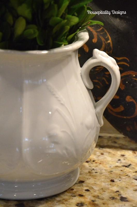 Ironstone sugar bowl-Housepitaity Designs