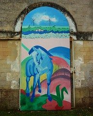 Saint Jean d' Angely, graffiti ancienne caserne