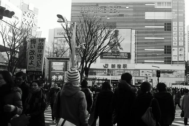 新宿劣化 - Shinjuku station square, Tokyo, 04 Jan 2015. 035