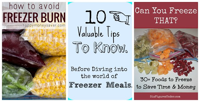Freezer Tips - simple things to make freezer meals better!