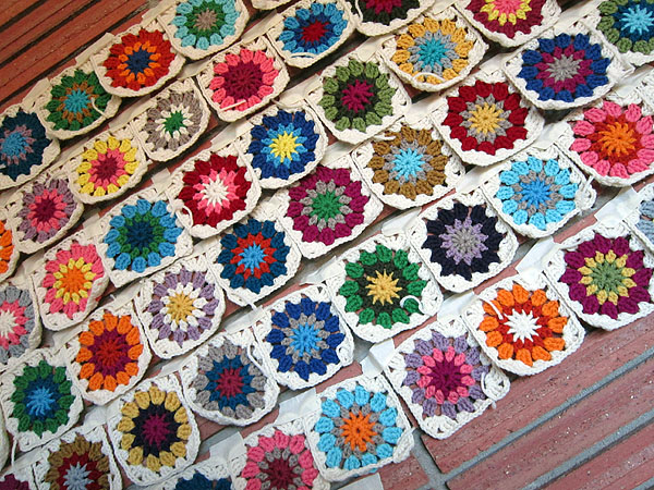 Sun Squares crochet progress
