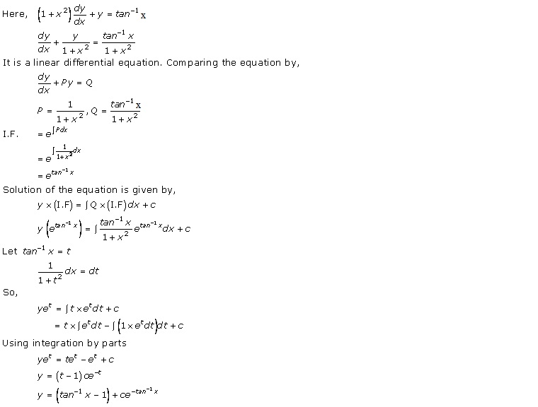 RD Sharma Class 12 Solutions Chapter 22 Differential Equations Ex 22.10 Q16