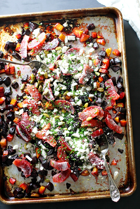 Roasted Beet and Orange Salad with Pistachios and Feta | Girl Versus ...
