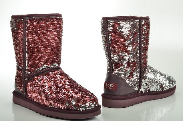 ugg australia classic short sparkles boot lammfell gef ttert mit bicolor wendepailetten 1002978. Black Bedroom Furniture Sets. Home Design Ideas