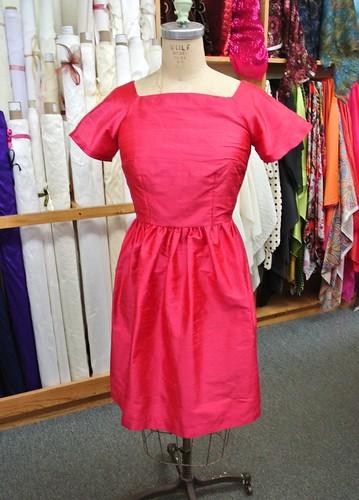 pink dupioni dress 006