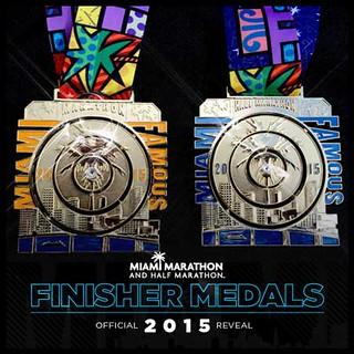 Medallas del Maratón de Miami 2015