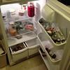 My fridge. #kraut #kimchee #miso #spinach #collards #butter #bacon #beer #bread #otherstufftoo