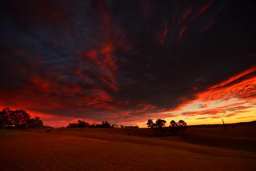 sunset clouds landscape australia newsouthwales woodville nikond7100