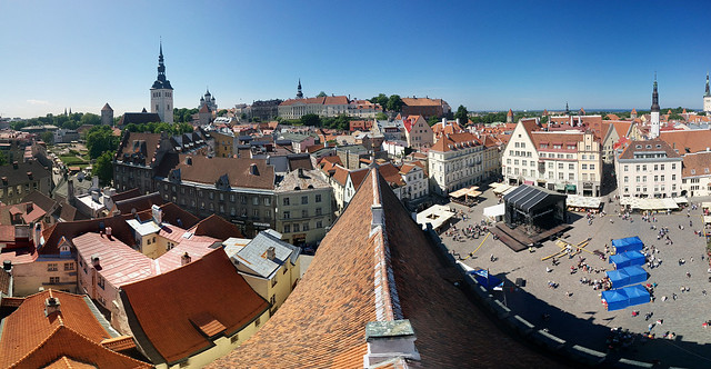 Roof of Town Hall in Tallinn