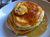 Bill's ricotta pancakes with honeycomb butter
