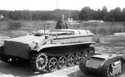 German mine Borgward IV (SD.Kfz. 301) and self-propelled Mina Goliath SD. Kfz. 302303